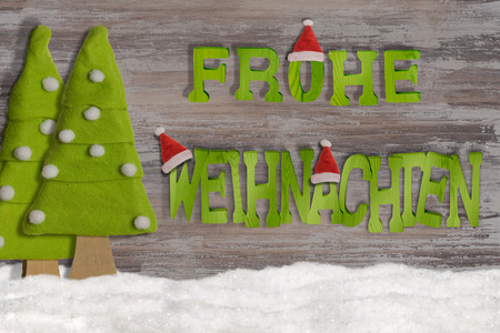Merry Christmas decoration on wood