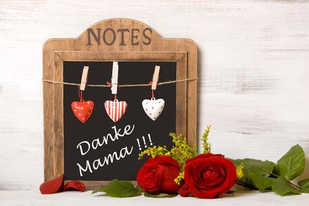 Schoolbord met het schrijven, Moeder