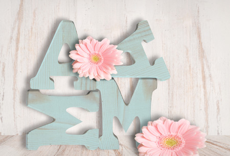 Mama in wooden letters, shabby style