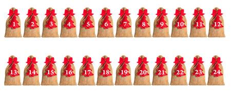 nikolaus: Advent calendar isolated on white background