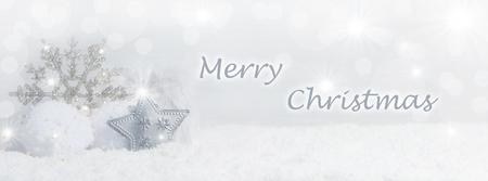 neige noel: Fond de Noël avec des cristaux de neige, la neige et Espace texte Banque d'images