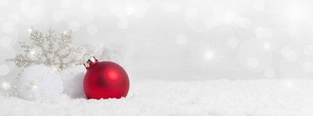 Kerst achtergrond met sneeuw kristallen, sneeuw en Ruimte van het Exemplaar Stockfoto