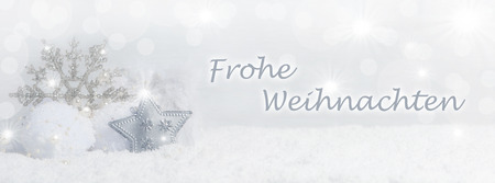 Christmas background with snow crystals, snow and Copy Space Zdjęcie Seryjne - 47254340