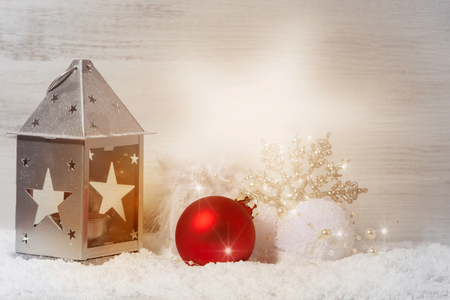 Christmas decoration with Light ray in star shape Stock Photo