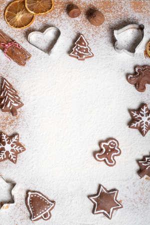 Christmas, baking Christmas cookies during the Advent season Zdjęcie Seryjne