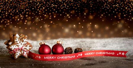 Christmas, Christmas cookies, Merry Christmas, Banner, Bokeh, Snow Zdjęcie Seryjne