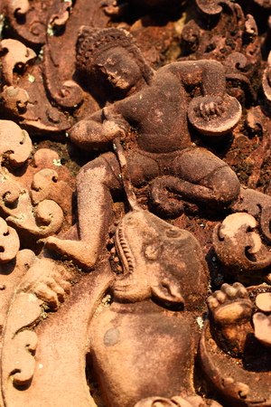 Temple Banteay Srei in Angkor photo