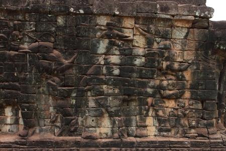 Terraza De Los Elefantes Angkor Thom Siem Reap Camboya Fotos