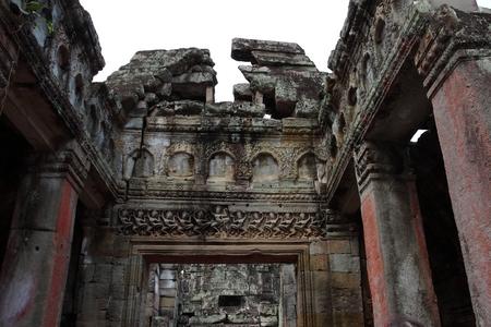 cambodia sculpture: Preah Khan Temple in Angkor Siem Reap Cambodia