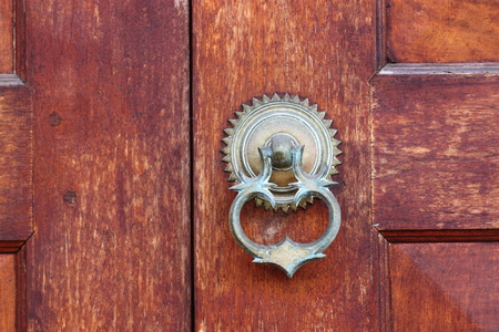 galle: Door handle at Galle Sri Lanka Stock Photo