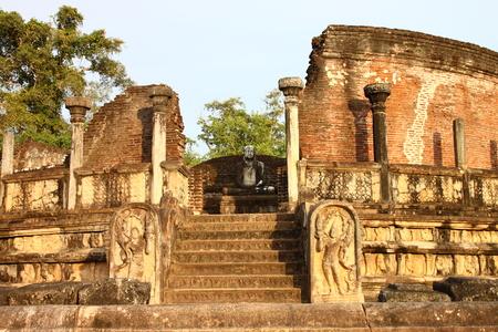 sri lanka temple: Temple ruins in Polonnaruwa Sri Lanka Stock Photo