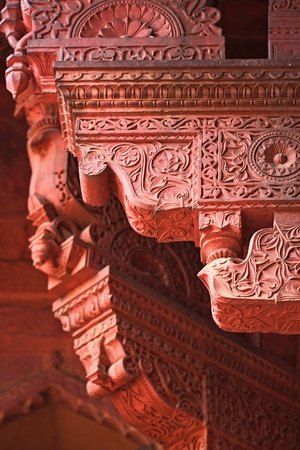 polychrome: Agra fort