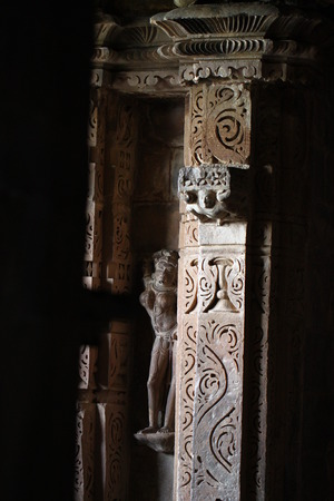 madhya: Khajuraho temples and their sculptures India