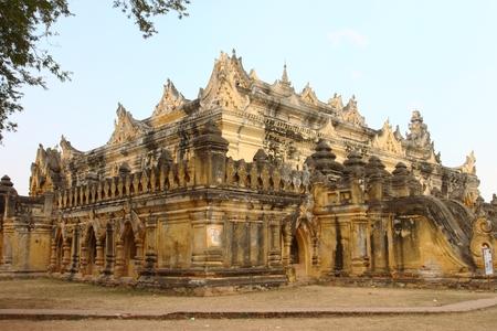 maha: Maha Aung Mye Bon Zan Monastery in Inwa city,Mandalay ,Myanmar