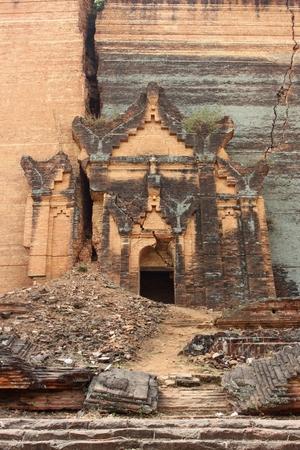 ruined: Ruined Mingun paya Temple in Mandalay Myanmar Stock Photo