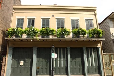 stucco house: New Orleans French Quarter Street Scene