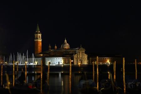 Gondeln Und Chiesa Di San Giorgio Maggiore Quadrat San Marco In