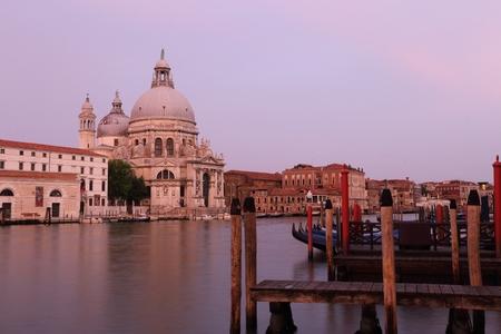 Basilica di Santa Maria della Salute on the giudecca Canal in Venice in Italy Stock Photo