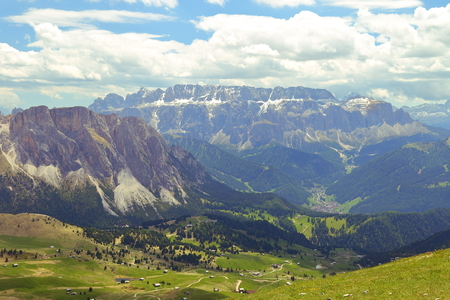 Seceda mountain in the Dolomites Italy Stock Photo
