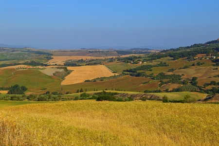 Countryside landscape around Pienza Tuscany in Italy, Europe