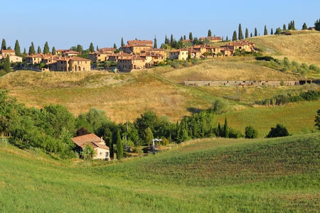 pienza: Countryside landscape around Pienza Tuscany in Italy, Europe