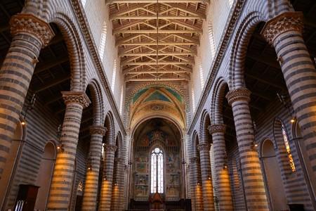 Orvieto - Duomo interior. , beautiful Cathedral in Orvieto, Umbria, Italy