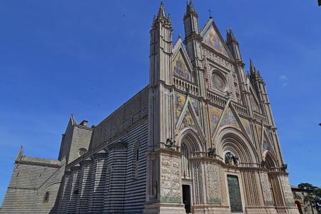 Orvieto – Duomo, beautiful Cathedral in Orvieto, Umbria, Italy Stock Photo