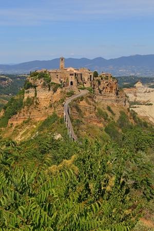 Civita di Bagnoregio town in the Province of Viterbo Italy, Editorial