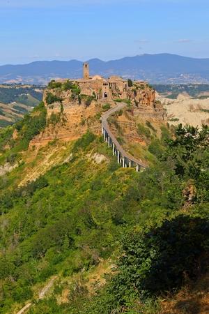 Civita di Bagnoregio town in the Province of Viterbo Italy, Stock Photo