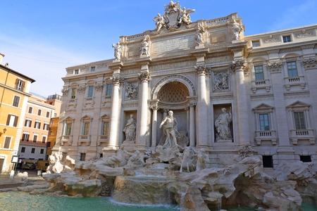 beroemde Fontana di Trevi in ??Rome, Italië