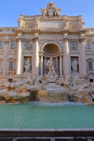 famous Fontana di Trevi in Rome Italy