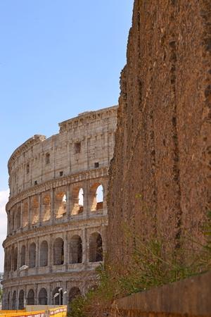 the Roman Colosseum ( Coliseum Colosseo ), ROME ITALY