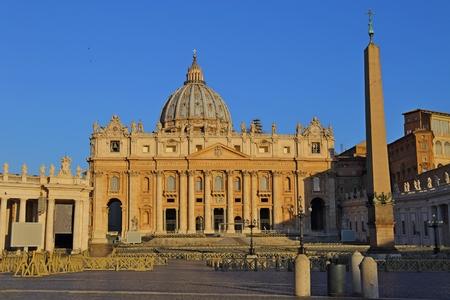 Saint Peter Square and Saint Peter Basilica, Vatican City, Rome, Italy