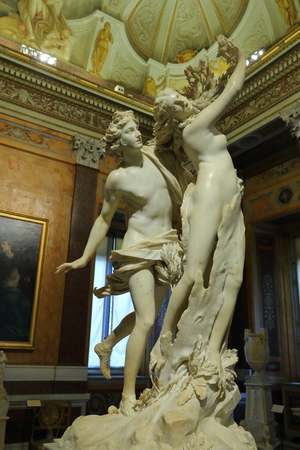Apollo and Daphne, marble sculpture by italian artist Gian Lorenzo Bernini, Galleria Borghese, Rome, Italy