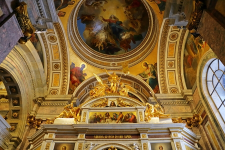 Interior of the Saint Isaac's Cathedral , Saint Petersburg, Russia