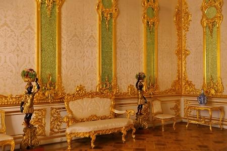 Interior of Catherine Palace in Tsarskoye Selo Saint Petersburg Russia