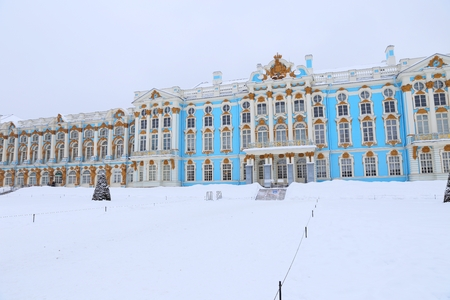 The Catherine Palace. Rococo palace located in the town of Tsarskoye Selo (Pushkin), St. Petersburg, Russia.