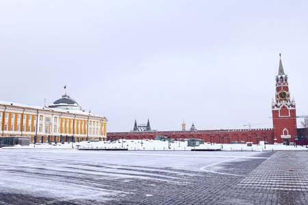 The senate building of Moscow Kremlin, Russia.