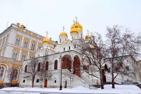 the Annunciation Cathedral in the Moscow Kremlin, Russia