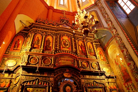 St. Basil s Cathedral interior. Moscow, Russia. Famous, architecture.