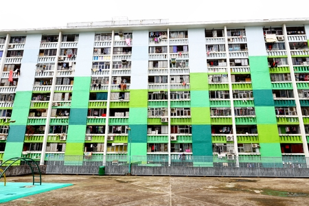old public populated housing estates in Hong Kong