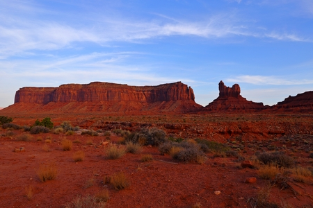 rock butte in Monument Valley in Utah USA 스톡 콘텐츠