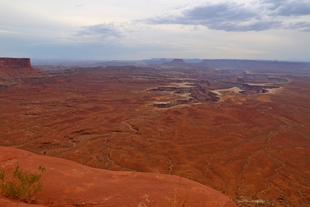Green River Overlook, Island in the sky district, Canyonlands National Park in Utah 스톡 콘텐츠