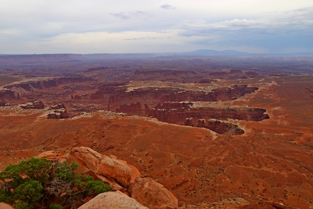 Grand View Point, Island in the sky district, Canyonlands National Park in Utah Stock Photo