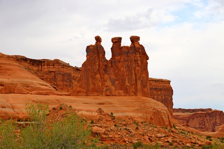 The Three Gossips at Arches National Park Utah