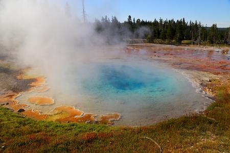 Beautiful Fountain Paint pot area, Yellowstone national park, Wyoming, USA