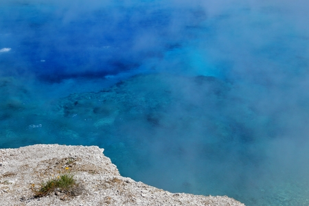 Midway Geyser Basin in Yellowstone National Park Wyoming, USA Stock Photo