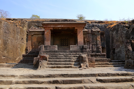 Temple of Ellora caves, the rock-cut temples, AURANGABAD, MAHARASHTRA in central India