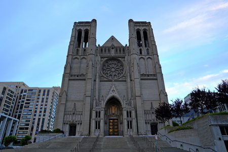 Grace Catholic Cathedral in San Francisco, California, USA Editorial