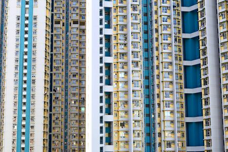 Dense high rise residential apartments in Kowloon, Hong Kong
